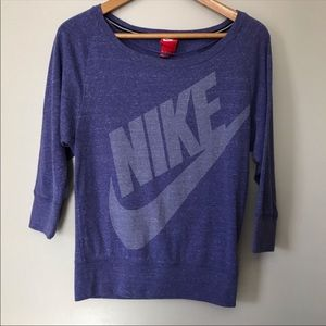 Nike Gym Vintage Crew Sweatshirt Purple XS